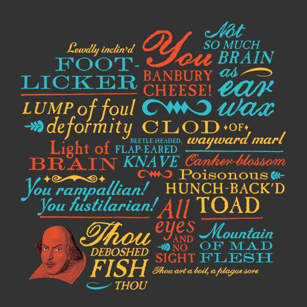 Shakespeare Insult Shirt :: Unemployed Philosophers Guild