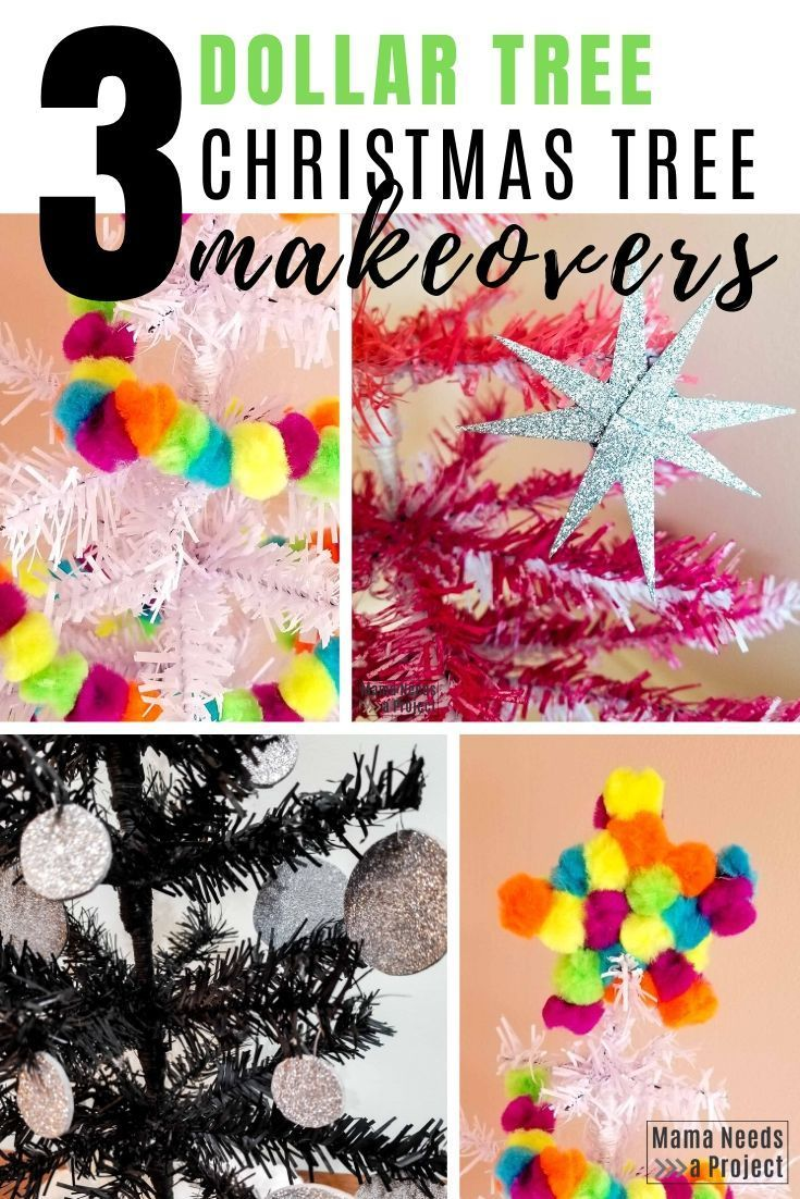 3 Amazing Diy Mini Christmas Tree Makeovers Mini Christmas Tree Dollar Store Christmas Diy Christmas Ornaments