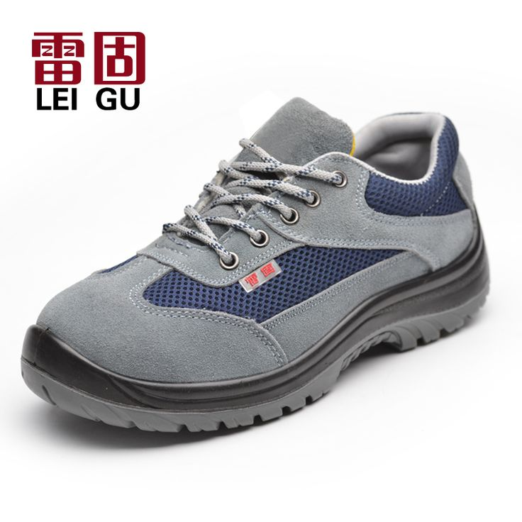 large size men steel toe dress shoe work safety summer shoes breathable mesh plate bottom ankle boots lace up protection zapatos