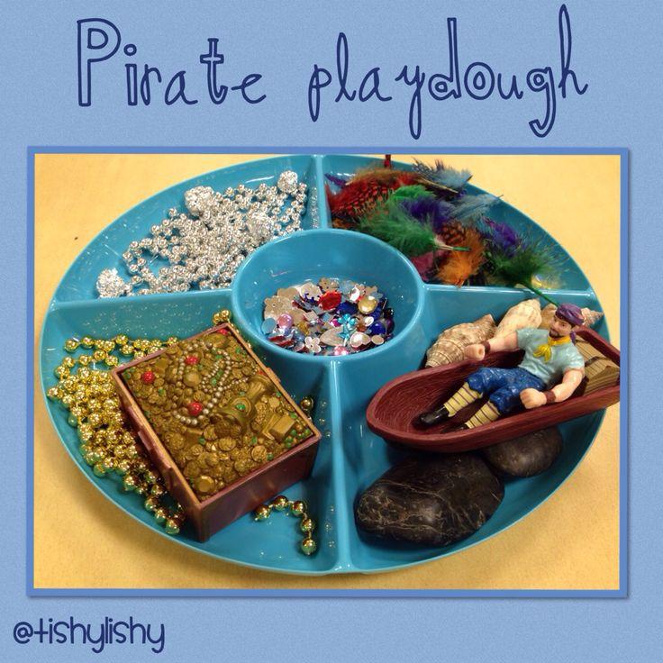 Pirate inspired playdough enhancement