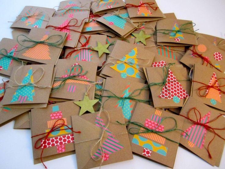 Homemade Christmas cards. DIY <3