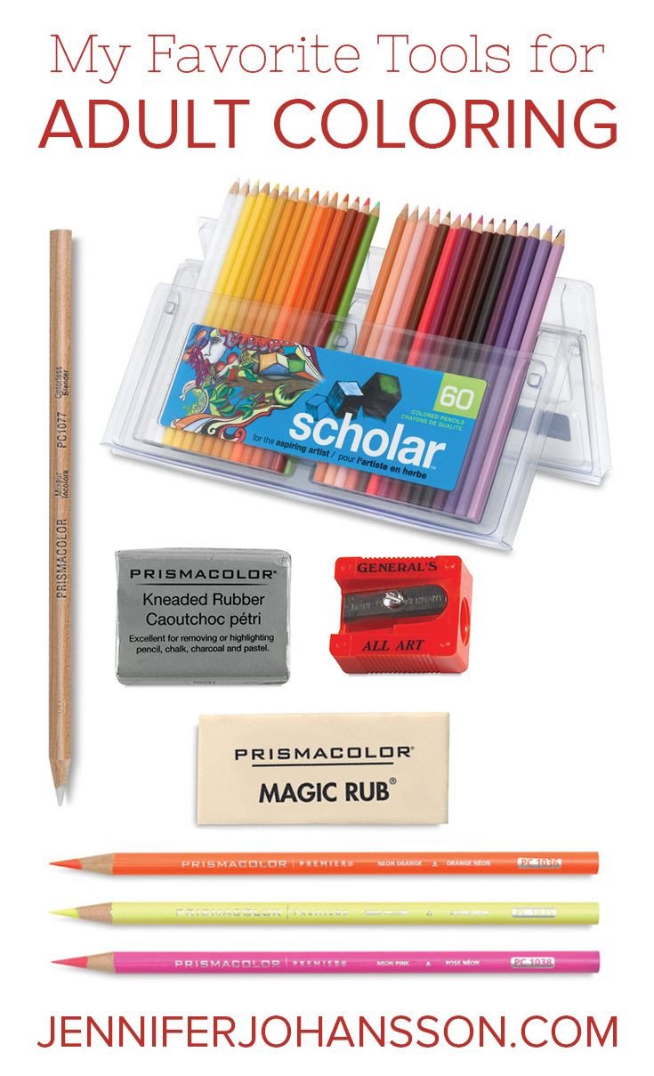 Art therapy coloring book and pencils - My Favorite Tools For Adult Coloring