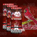 St Louis Cardinals Baseball – Invite 1 – Product 1