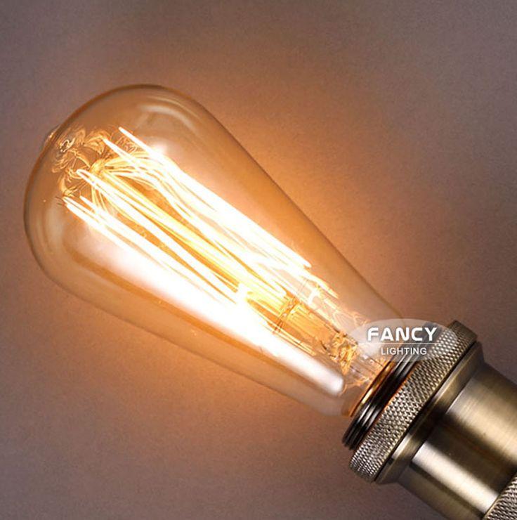 Retro lamp st64 vintage edison e27 gloeilamp 110 v 220 v vakantie lichten 40 w 60 w filament lamp lampada voor thuis decor in Retro lamp st64 vintage edison e27 gloeilamp 110 v 220 v vakantie lichten 40 w 60 w filament lamp lampada voor thuis decor van Gloeilampen op AliExpress.com | Alibaba Groep