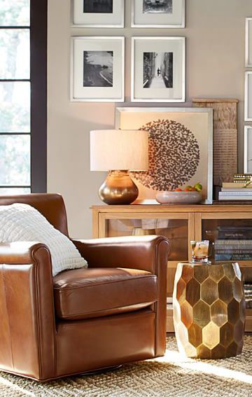 Corner Inspiration: Nothing Beats The Comfy, Leather Club Chair And Good  Book Combo. Every Living Room Needs A Spot Like This!