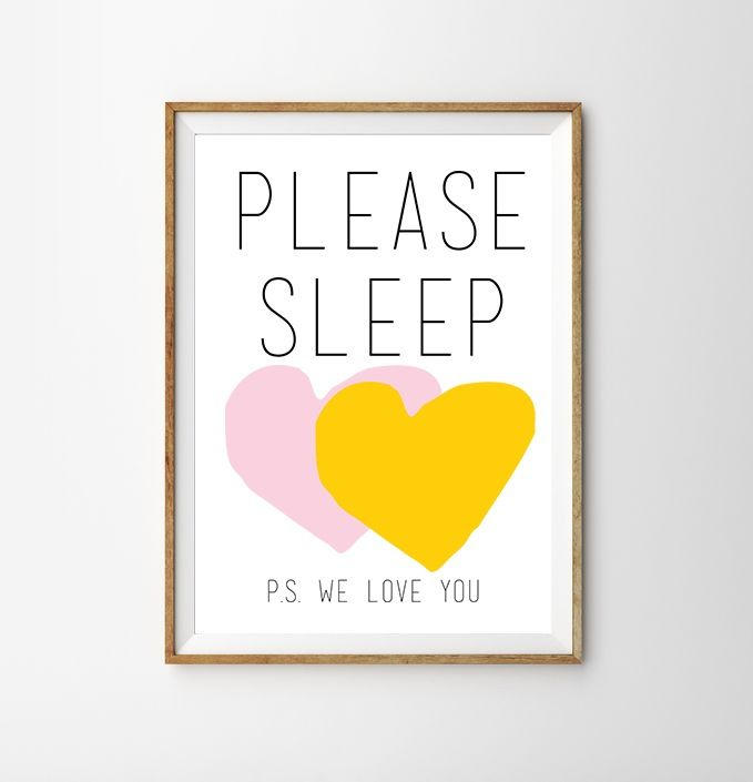 Please Sleep | Pink & Yellow Hello Yellow