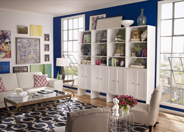 Create A Beautiful Focal Point And Media Center In Your Living Room With ClosetMaid