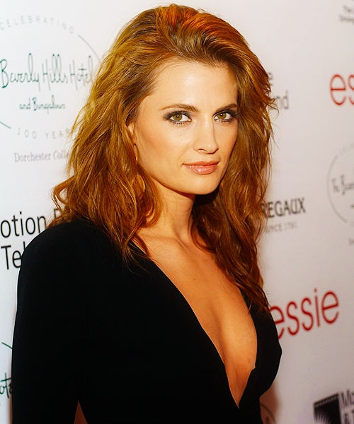 stana katic - and this is a hairstyle i could easily do. yes!