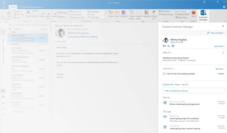 #Productividad #crm #empresas Outlook Customer Manager, el nuevo y práctico CRM de Office 365 para pequeñas empresas