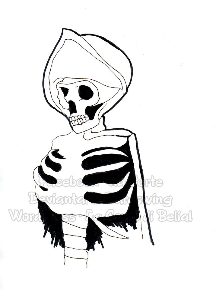 Drawlloween 24, Skeleton