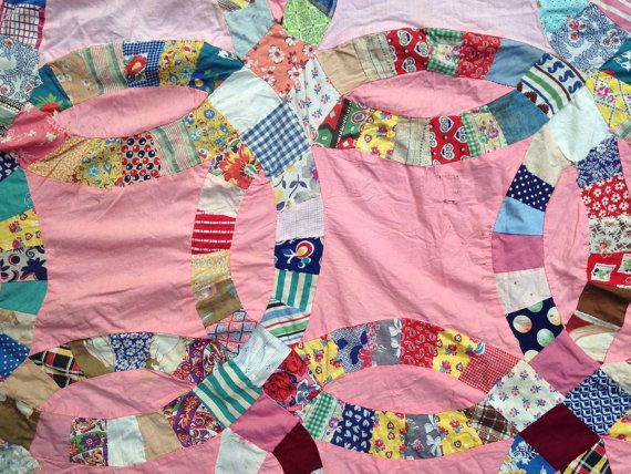 15 best double wedding ring quilt images on Pinterest Double