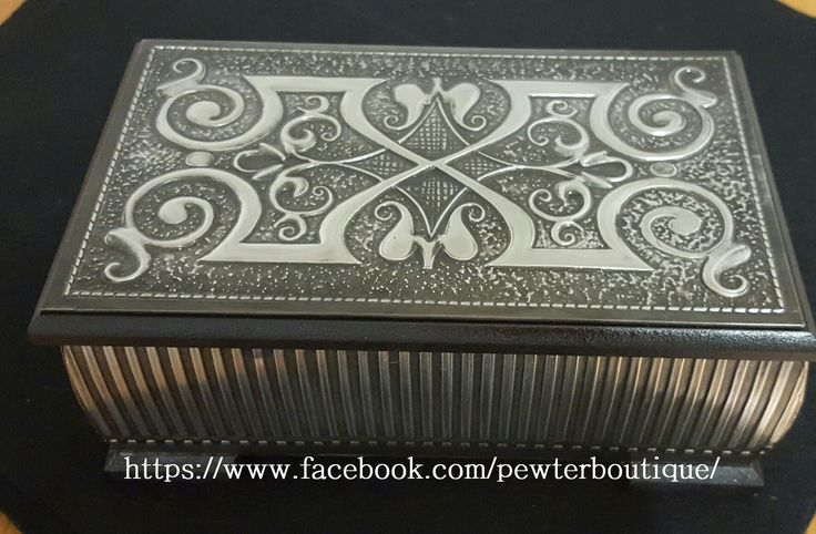 Jewellery Box with textured background.
