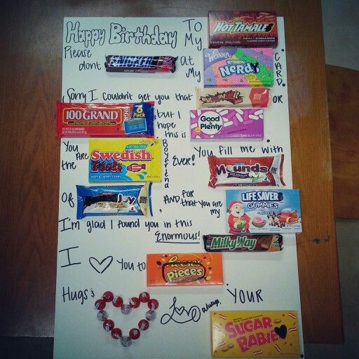 25 best ideas about candy card boyfriend on pinterest for Birthday present for your boyfriend