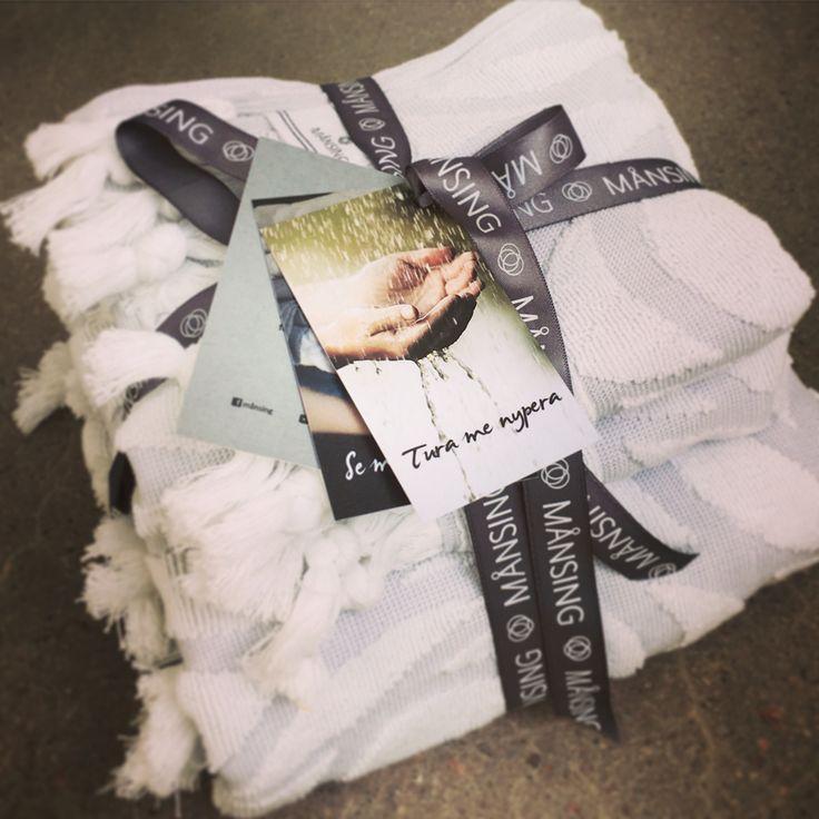 #gift #towels #månsing #terry #interiordesign #satinribbon