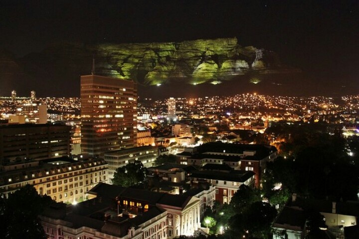 Cape Town, South Africa by night