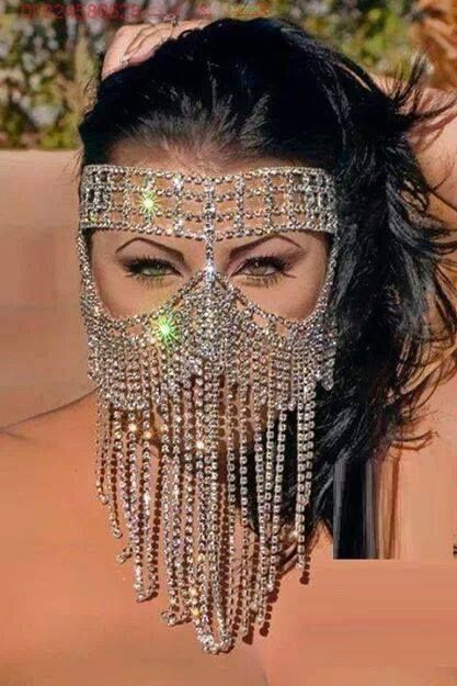 Face Veil In 2019 Jewelry Belly Dance Costumes Crystal