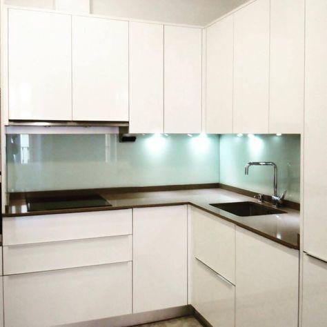 Iluminacion cocinas modernas cocina moderna blanco brillo for Iluminacion encimera