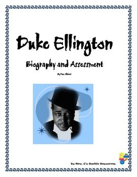 Free!!!  The vocabulary handouts were formulated from the beautifully written book Duke Ellington by Andrea Davis Pinkney.  I then downloaded a bio...