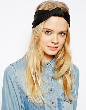 ASOS Knot Turban Headband-this would be cute with glittery jersey!