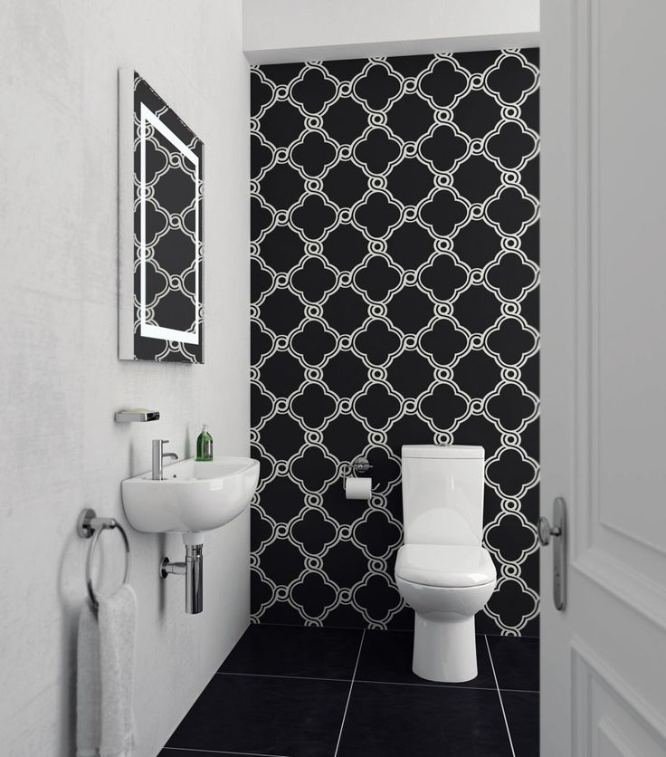 Cool Cloakroom Suite - Short Projection Toilet with 45cm Slimline 1TH Basin at Victorian Plumbing UK