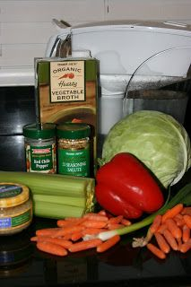 Cabbage Soup Diet CrockPot Recipe (supposedly you can lose up to 10 pounds of water weight/fat in 2 weeks.)
