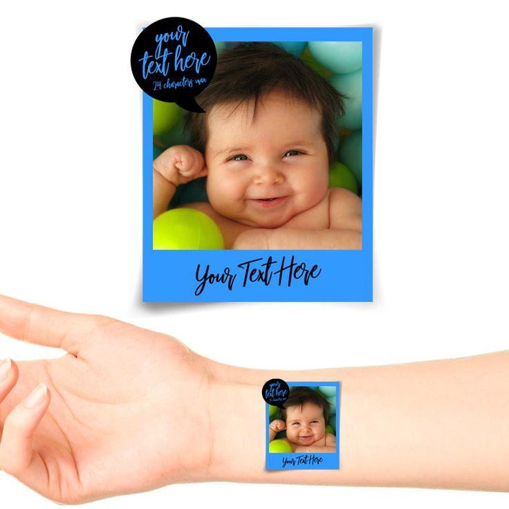 Royal Polaroid Photo Personalised Tattoo #1179 (20 pack)