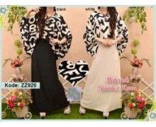 Grosir Baju Muslim Dress Online Murah Modern Terbaru Z926