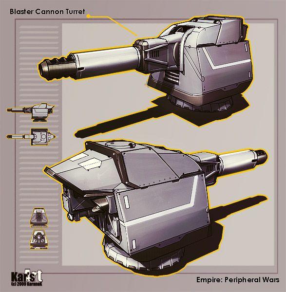 Blaster Cannon Turret by KaranaK.deviantart.com on @DeviantArt