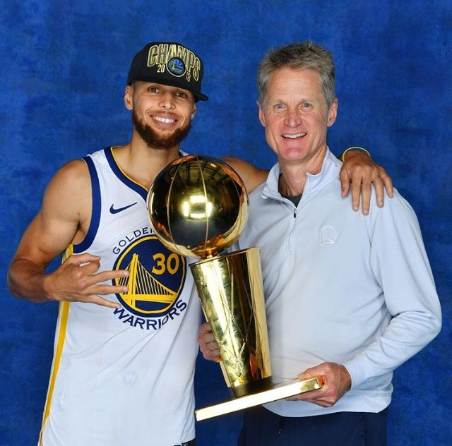 ffd18a410 Unc Steve Kerr and cousin Steph 2019 Champs Golden State Warriors ...