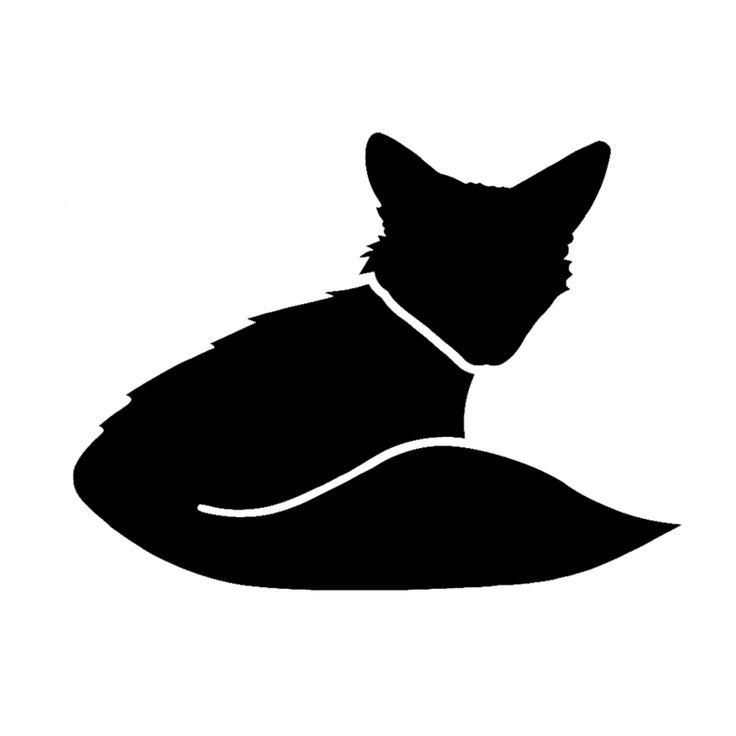 15*11.3cm Fox Vinyl Truckwindow Decal Lovely Cat Car Bumper Sticker