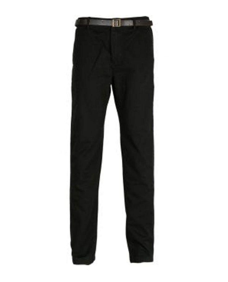Pantalones Pitillo Negro con Cinturón