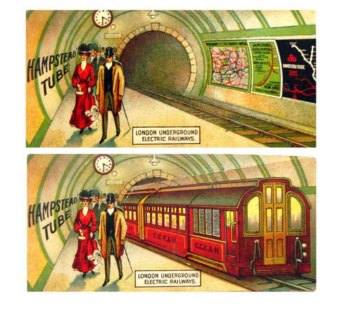 Vintage London Underground advertising