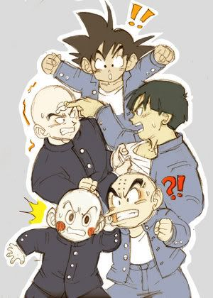 |★| Tien Shin-han, Yamucha, Goku, & Krillin  |★| Turtle School VS Crane School