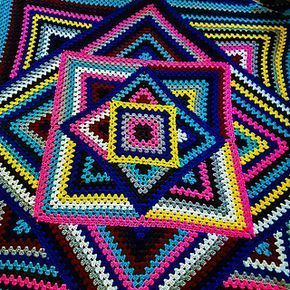 Crocheted Kaleidoscope Granny