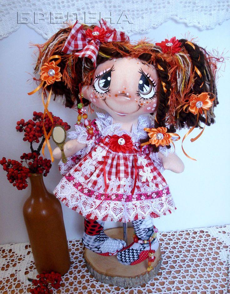 Купить Текстильная кукла Фея Волшебного Зеркальца.Текстильная кукла. - рыжий, интерьерная кукла