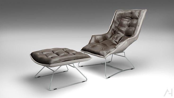 Armchair model&render. | Freelancers 3D