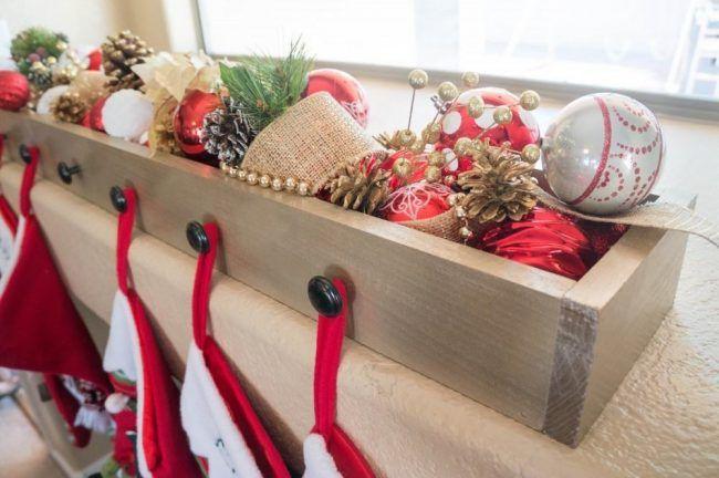 Diy Stocking Hanger Box Christmas Stockings Diy Diy Stockings Christmas Stocking Hangers