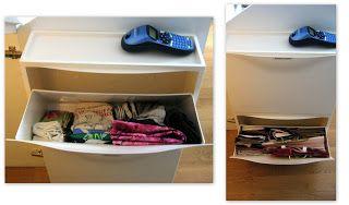sorriso a 365 giorni: Paroladordine: organizzare il sottoscala (1) - utilizza le scarpiere a ribalta per conservare borse di stoffa e di carta da riutilizzare