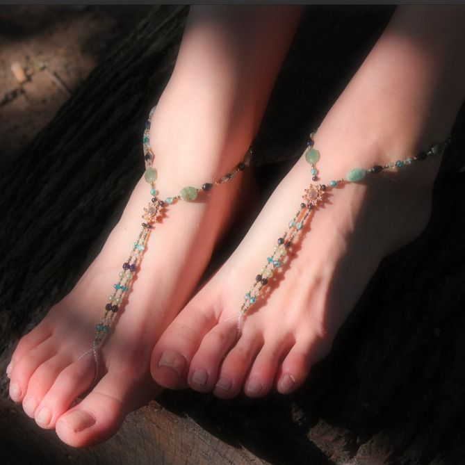 #barefoot #musthave #janerafterdesigns #handmade available at www.slinks.com