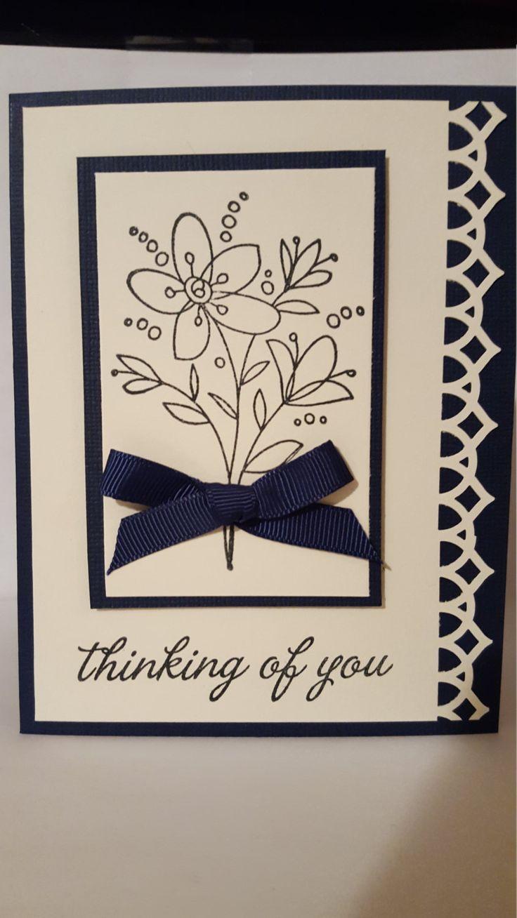 Thinking Of You Sympathy Handmade Card by SimoneSaysCardShop on Etsy