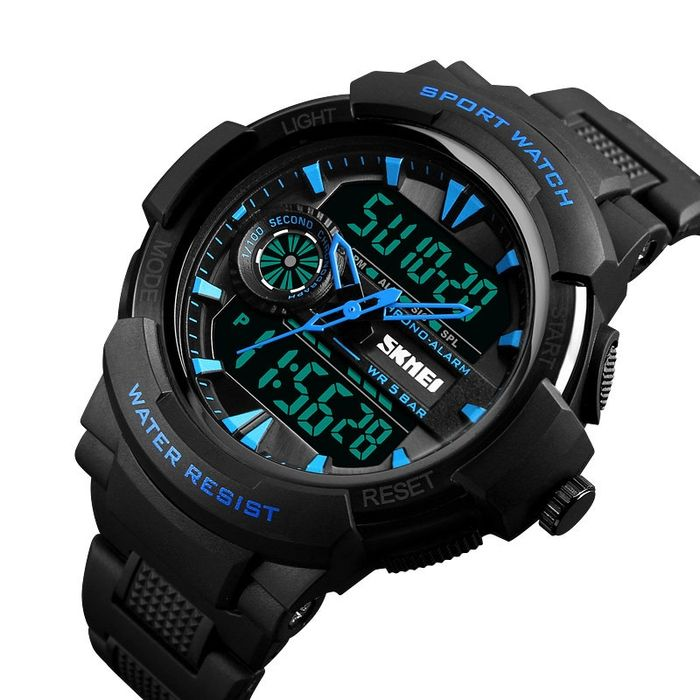 Skmei Dual Display Digital Mens Watches Chronograph Alarm Watch Fashion Waterproof Sport Watch Chronograph Watch Men Cheap Watches For Men Watches For Men
