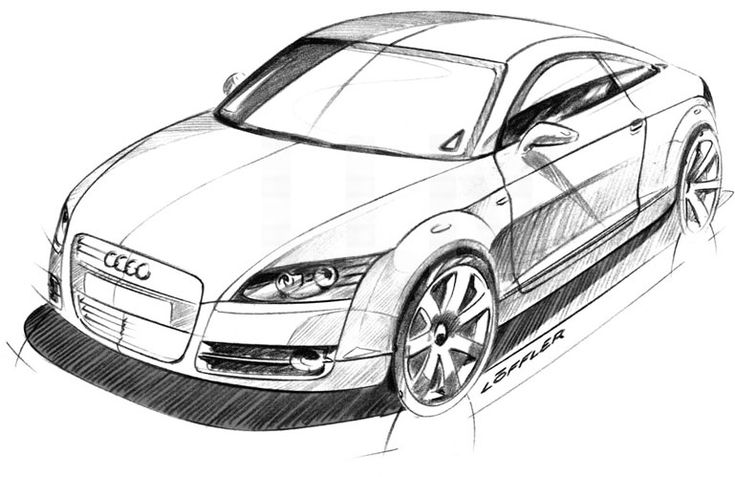 how to draw a car front view