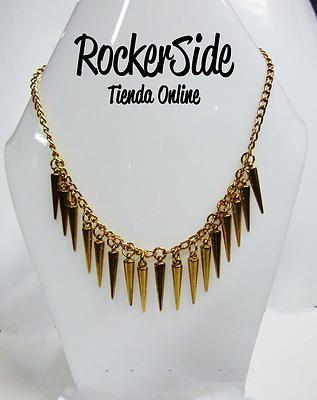 Collar de puntas doradas. $20.000 Adquierel0 en www.rockerside.com Envíos a todo Colombia, aceptamos todos los medios de pago