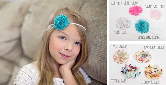 Printed Shabby Rosette Variety SALE - Headband or Clip - 34 Options! | Jane