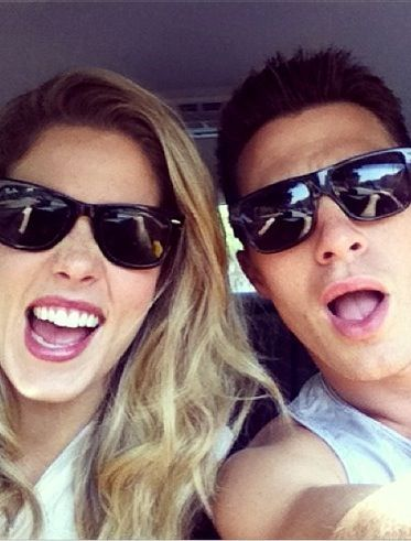 Emily Bett Rickards and Colton Haynes