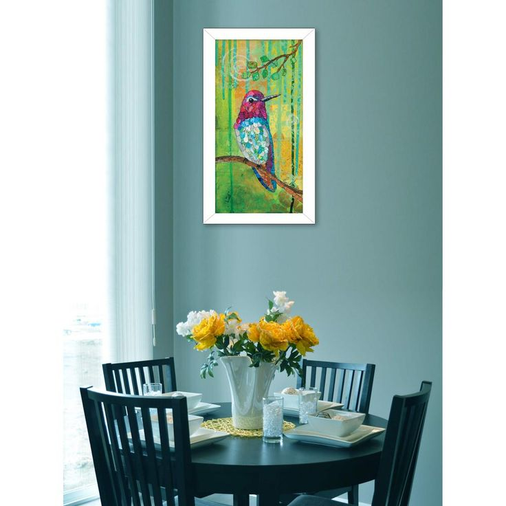 "24 in. x 12 in. ""Anna's Hummingbird"" by Lisa Morales, Printed Framed Wall Art"