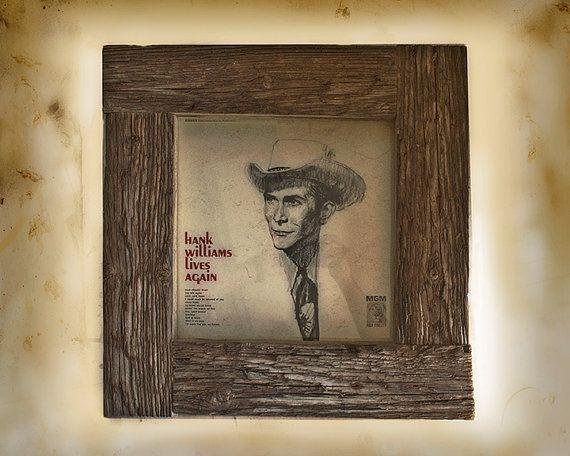 12x12 Barn Board Frame w/Hank Williams by SaphariRusticFrames, $119.00