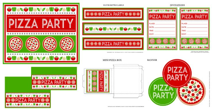 Free Pizza Party Printables and more!