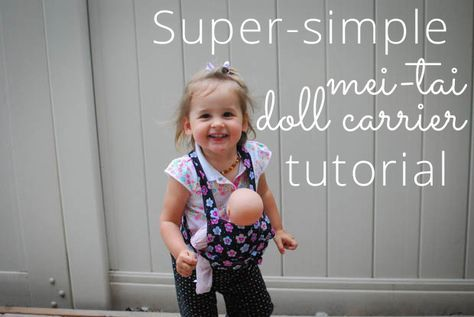 Super-simple mei-tai doll carrier tutorial. Stacey's review: it really is super simple and turned out SO cute!