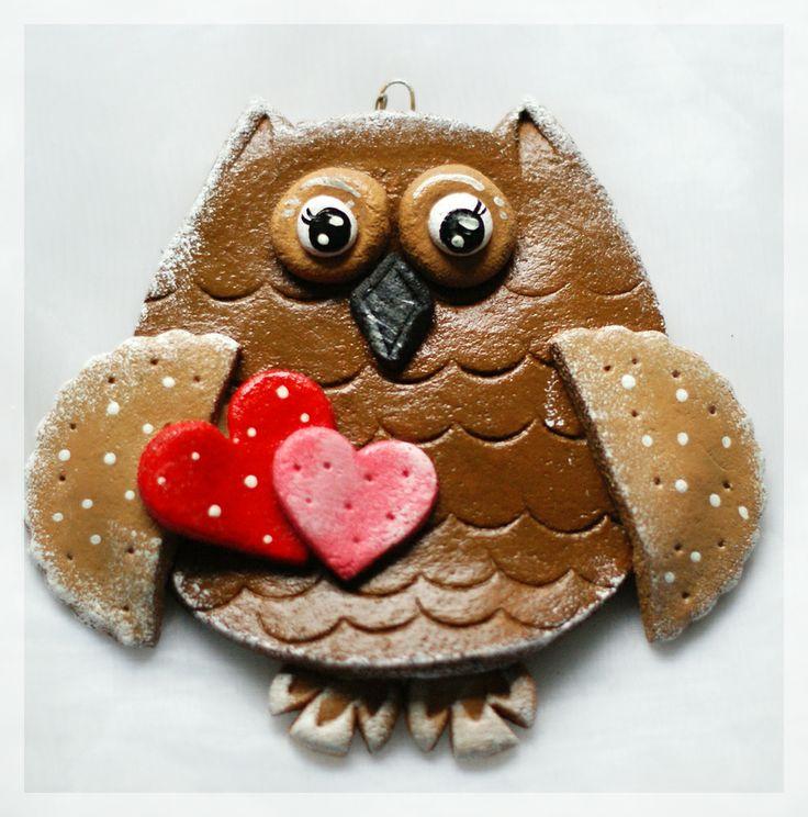 Salt Dough Owl